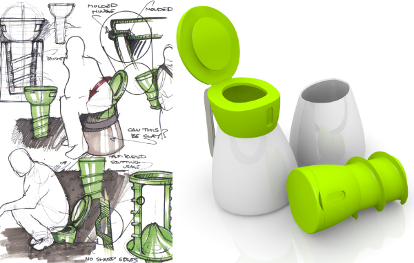 Bringing dignity to the third world for Innovative industrial design products